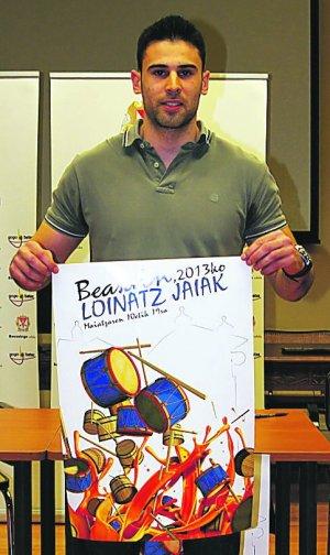 Moosaik gana el concurso de Carteles de fiestas de Beasain 2013