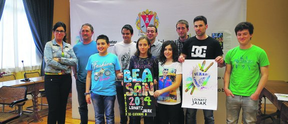 Moosaik gana el concurso de Carteles de fiestas de Beasain 2014